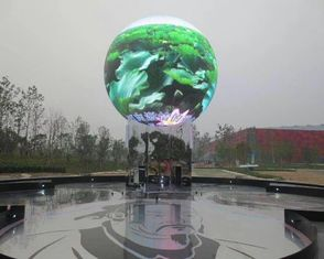 ประเทศจีน Seamless Connection Spherical Led Ball Display , Commercial Global Led Display Screen ผู้ผลิต