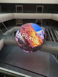 ประเทศจีน Creative Full Color Curved LED Display / Spherical Led Screen For Advertising โรงงาน